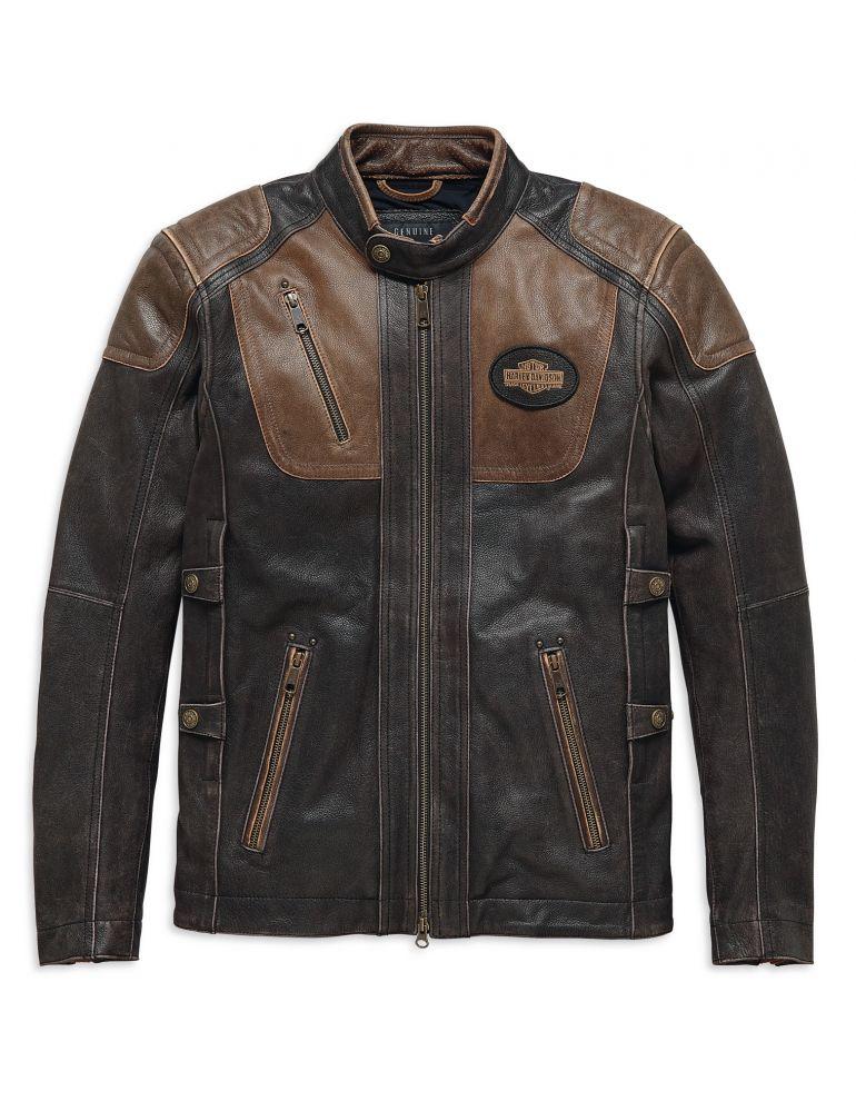 Куртка шкіряна чоловіча довгий рукав розмір M