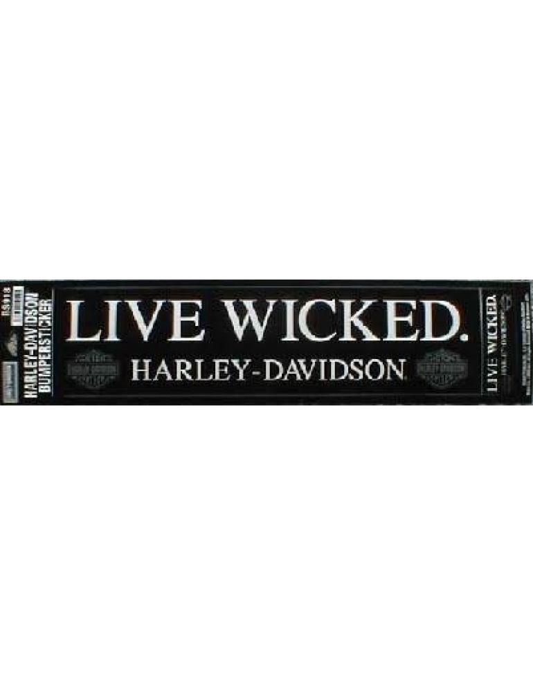 "Наклейка на бампер ""Live Wicked"""