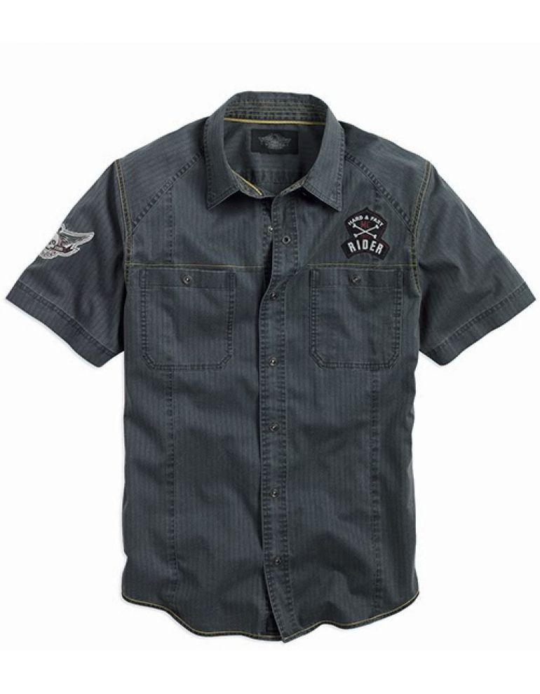 Чоловіча сорочка з коротким рукавом , розмір L