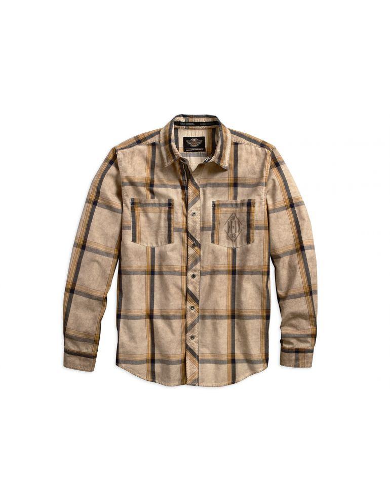 Сорочка чоловіча з довгим рукавом рукавом розмір L