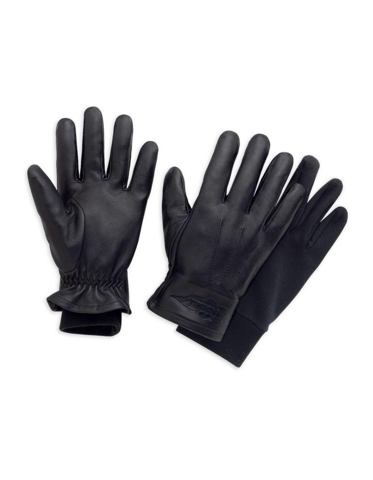 Чоловічі шкіряні перчатки з пальцями , розмір М